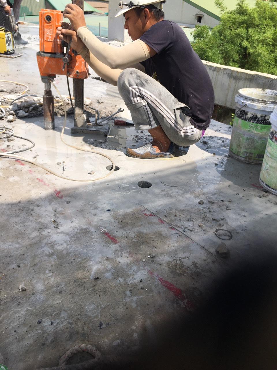 Khoan cắt bê tông tại quận Ba Đình
